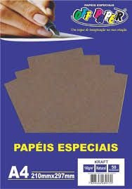 Papel A4 180g 50f Kraft Antilope - Off Paper
