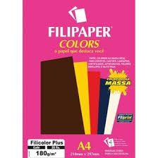 Papel A4 180g 20f Filicolor Plus Cafe - Filipaper