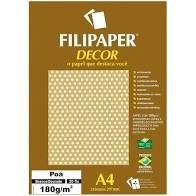 Papel Decor Poa Bra/amarelo 20fls 180gr - Filipe