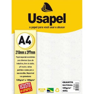 Papel Granitto A4 180g/m2 50f Natural - Usapel