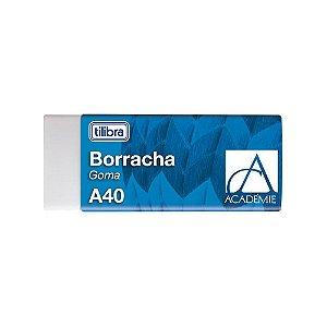 Borracha Gd A40 Academie Branco - Tilibra