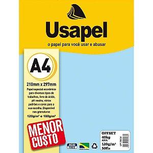 Papel Offset A4 120g 50f 40k Azul - Usapel