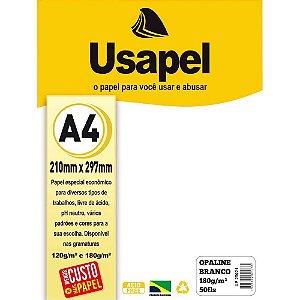 Papel Opaline A4 180g/m2 50f Branco - Usapel