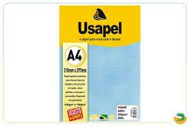 Papel Verge A4 180g/m2 50f Azul - Usapel