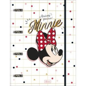 Caderno Fichario Argolado Minnie - Tilibra