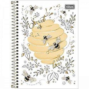 Caderno Esp Cd 1/4 80f Honey Bee - Tilibra