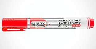 Marcador Quadro Branco Recarregavel Vermelho - Brw