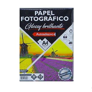Papel Fotografico 115g 50f Adesivo Glossy - Brw