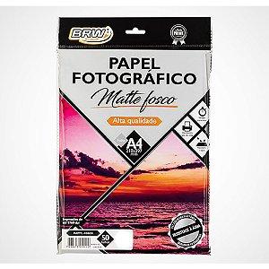 Papel Fotografico 180g 50f Matte Fosco - Brw