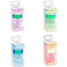 Fita Adesiva C/6 Washi Tape Candy Sortido - Brw