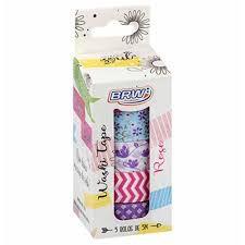 Fita Adesiva C/5 15mmx5m Washi Tape Rose - Brw