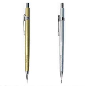 Lapiseira Tecnocis 0,7mm Prata/dourada - Cis