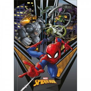 Caderno Broc Cd 1/4 80f Spiderman - Tilibra
