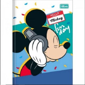 Caderno Broc Cd 1/4 96f Mickey Mouse - Tilibra