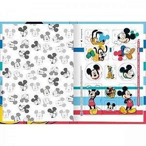 Caderno Broc Cd 1/4 80f Mickey - Tilibra