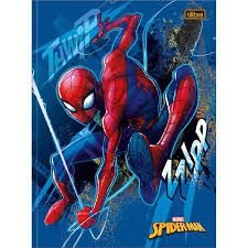 Caderno Broc Cd 1m 48f Spiderman - Tilibra