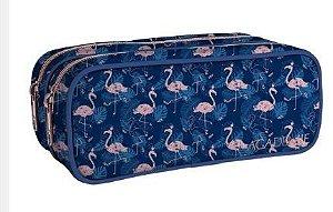 Estojo Duplo G Academie Flamingo - Tilibra
