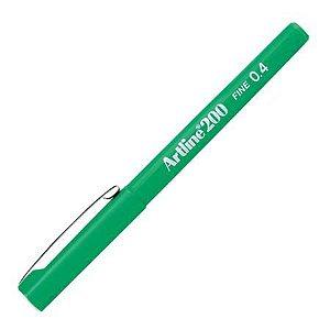 Caneta 0,4mm Ek200 Artline Verde - Tilibra