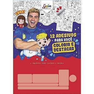 Bloco Adesivo Colorir Luccas Neto - Tilibra