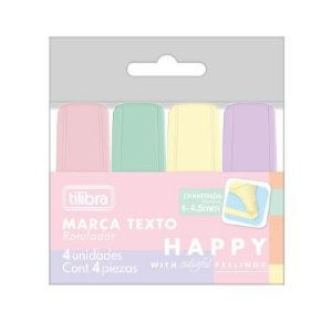 Marca Texto C/4 Mini Happy - Tilibra