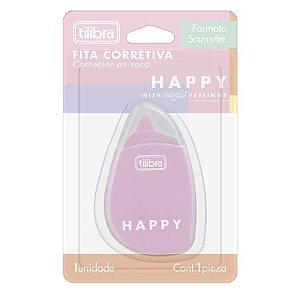 Fita Corretiva Blister Happy - Tilibra