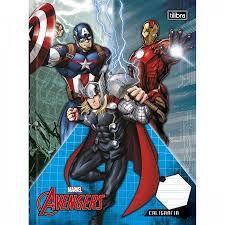 Caderno Broc Cd 40f Caligrafia Avengers - Tilibra