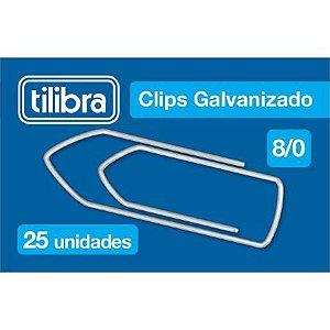 Clips 8/0 C/25 Galvanizado - Tilibra