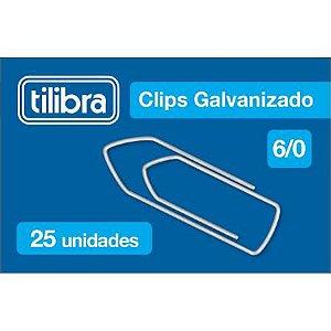 Clips 6/0 C/25 Galvanizado - Tilibra