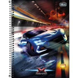 Caderno Esp Cd 1/4  80f X-racing - Tilibra