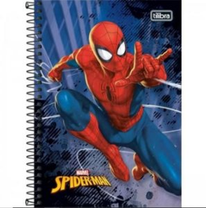 Caderno Esp Cd 1/4 80f Spidermen - Tilibra