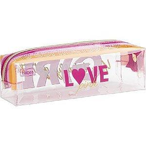Estojo M Love Pink - Tilibra