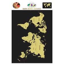Mapa Mundi 40x60mm Magico C/palheta - Off Paper