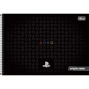 Caderno Esp Cd Cartografia 80f Playstation-tilibra