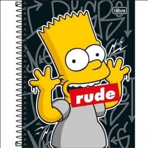 Caderno Esp Cd Coleg 1m 80f Simpsons - Tilibra