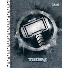 Caderno Esp Cd Coleg 1m 80f Avengers Hero -tilibra