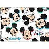 Caderno Esp Cd Cartografia 80f Mickey - Tilibra