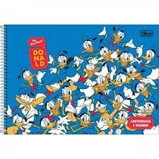 Caderno Esp Cd Cartografia 80f Donald - Tilibra