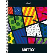 Caderno Esp Cd Univ 1m 96f Romero Britto - Tilibra