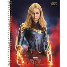 Caderno Esp Cd Univ 1m 80f Captain Marvel -tilibra