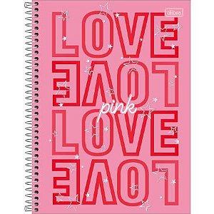 Caderno Esp Univ Cd 10m 160fls Love Pink - Tilibra
