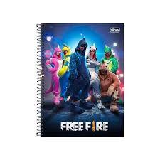 Caderno Esp Cd Univ 10m 160f Free Fire - Tilibra
