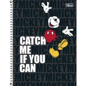 Caderno Esp Cd Univ 10m 160f Mickey Light -tilibra