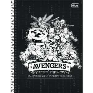 Caderno Esp Cd Univ 10m 160f Avengers Asb-tilibra