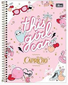 Caderno Esp Cd Univ 12m 192f Capricho - Tilibra