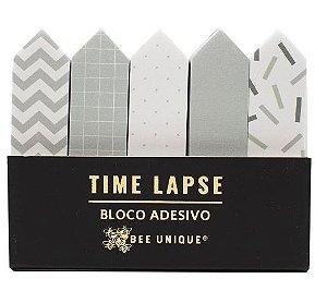 Bloco Adesivo Com 5 Bloco C/30fls Time Lapse - Bee