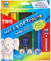 Lapis De Cor Mega Soft Color Jumbo - Tris