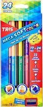Lapis Cor 24 Cores Mega Soft Color Bicolor - Tris