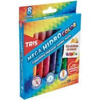 Hidrocor 8 Cores Mega Hidro Jumbo Fruits- Tris