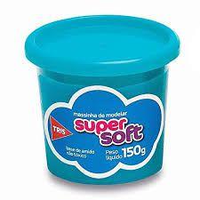 Massa De Modelar 150g Super Soft Azul - Tris
