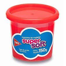 Massa De Modelar 150g Super Soft Vermelho - Tris